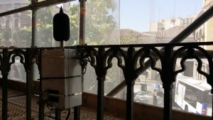 Monitor mediciones ruido plaza Santa Ana